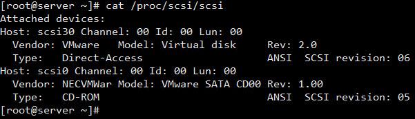 دستور فایل /proc/scsi/scsi در لینوکس