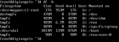 دستور مقدار فضای حافظه دیسک در لینوکس